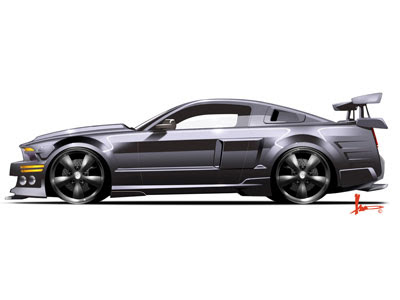 Wallpapers - Ford Mustang Shelby GT500KR KITT (Knight Rider)