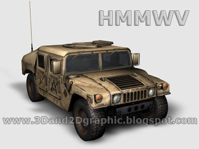 3D Model - HMMWV Military Vehicle