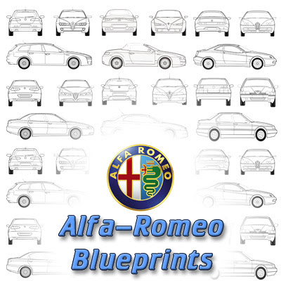 Blueprints - Alfa Romeo