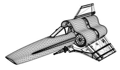 3D Model - Battlestar Galactica - Viper MK-IV fighter
