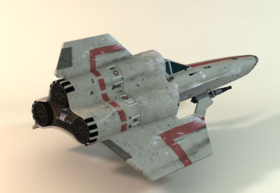 3D Model - Battlestar Galactica - Viper MK-IV fighter