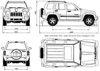 Blueprints - Jeep Cherokee (2001)