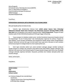 Sponsor letter sample for student