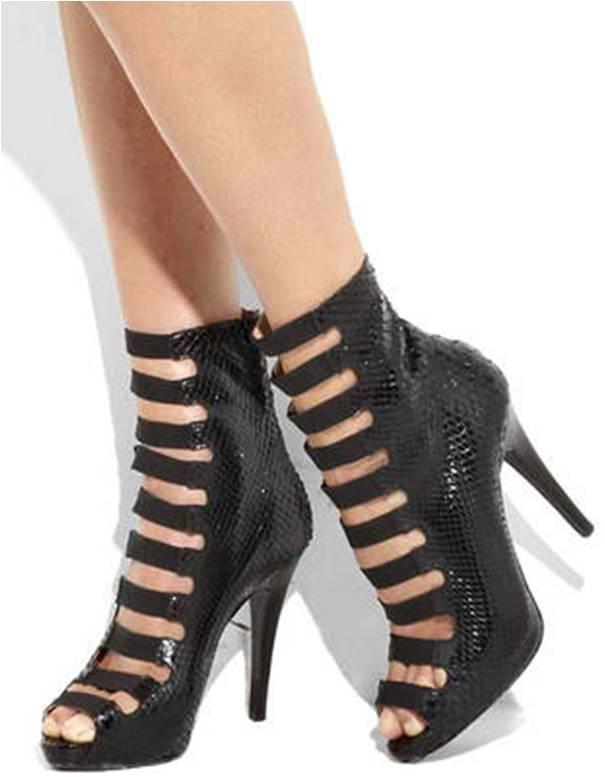 women 39 s high heel shoes michael kors multi strap exotic python high heel ankle boots. Black Bedroom Furniture Sets. Home Design Ideas