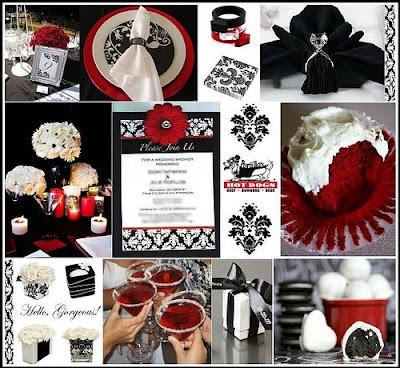 Vermelho Branco E Preto Na Decora    O
