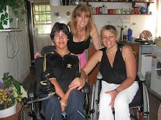 Con mi amorosa hermana Claudia y mi amado sobrino Jonás.