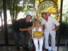 Tigre. Con el Director de Discapacidad de la Municipalidad y el Presidente de una de las ONGs
