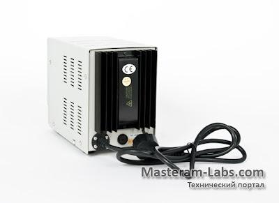Тыльная сторона лабораторного блока питания AXIOMET AX-1803D