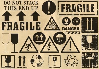 Ý nghĩa biểu tượng hàng hóa Mixed-Signs-vector