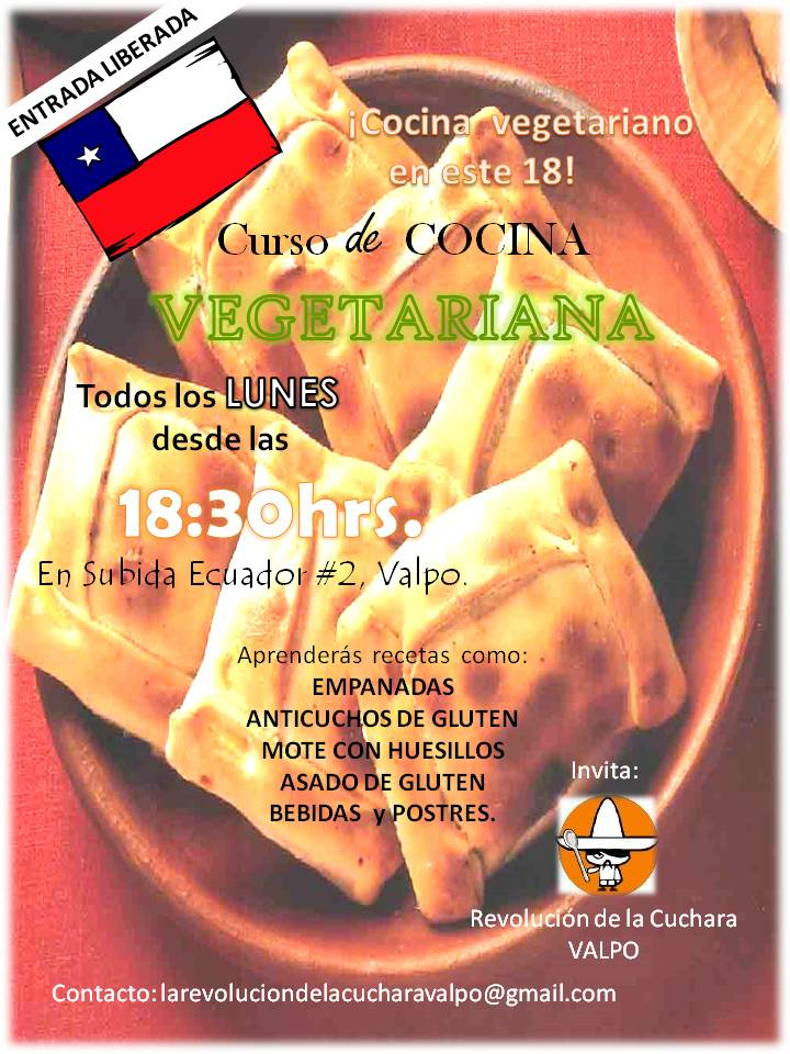 Revoluci n de la cuchara valpara so curso de cocina - Curso de cocina vegetariana ...
