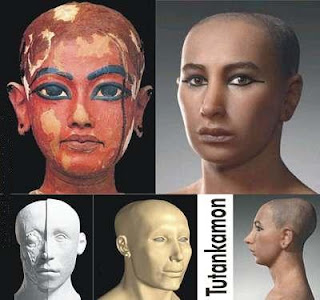etapas da reconstrucao do rosto de tutankamon