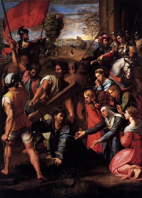 cristo cai sobre o caminho do calvario_rafael sanzio_1517