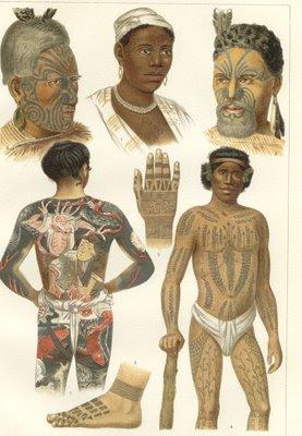primeiras tatuagens, tatuagens em povos indígenas, tatuagens  primitivas