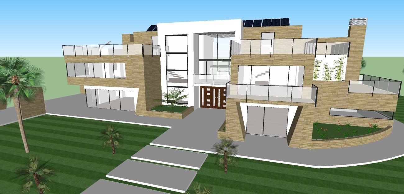 Google sketchup modern house design House design