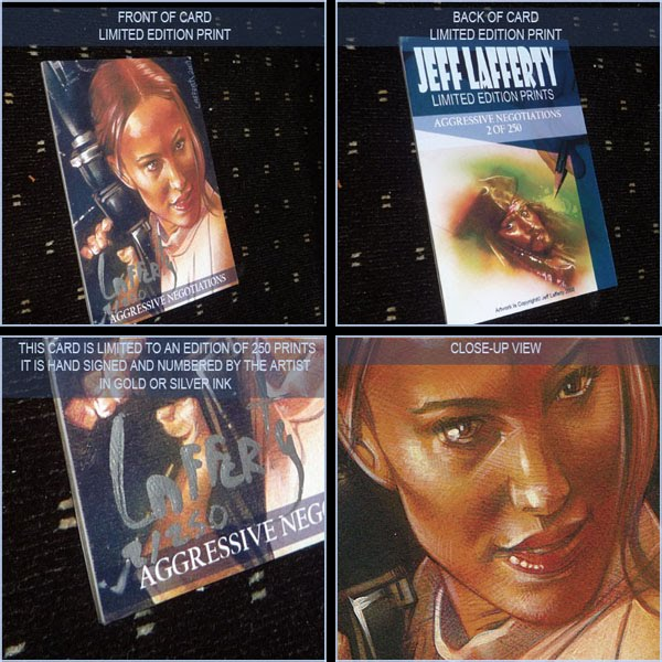 Natalie Portman, Limited Edition Signed Print by Jeff Lafferty