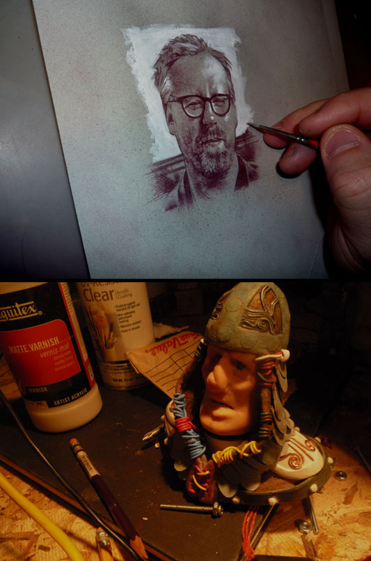 Adam Savage, Original Art By Jeff Lafferty, Stop Motion Movie Puppet