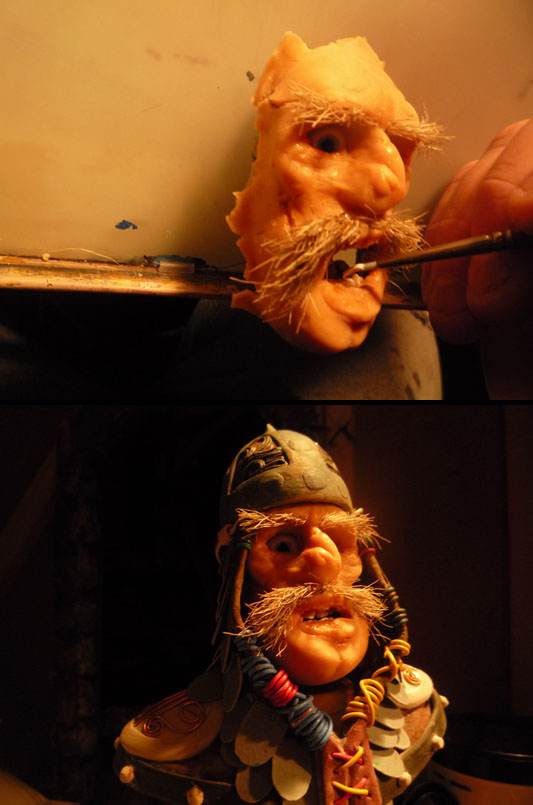 Stop Motion Puppet Heads, The Legend Of Wolf, Jeff Lafferty