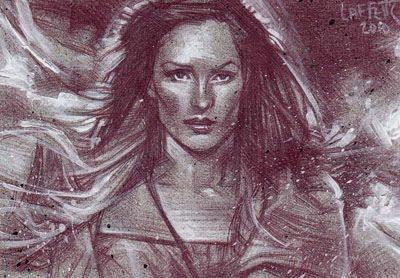 Framke Janssen (Pencil study) ACEO Sketch Card by Jeff Lafferty
