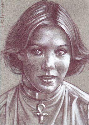 Jenny Agutter (Pencil study) ACEO Sketch Card by Jeff Lafferty