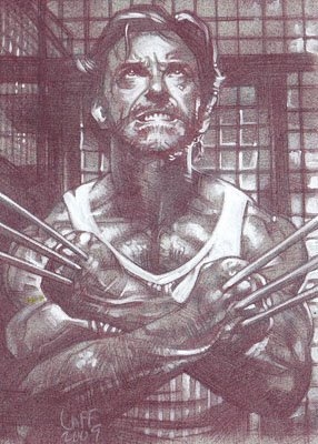 Wolverine (Pencil study) ACEO Sketch Card by Jeff Lafferty
