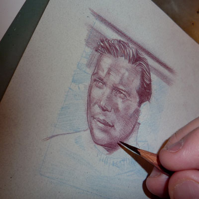 Captain Kirk ACEO Sketch Card by Jeff Lafferty