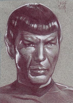 Spock (Pencil study) ACEO Sketch Card by Jeff Lafferty