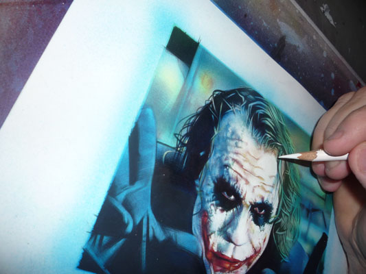 Heath Ledger, Joker Art by Jeff Lafferty