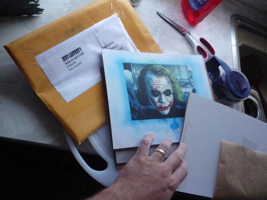 Heath Ledger as Joker - Original Art by Jeff Lafferty