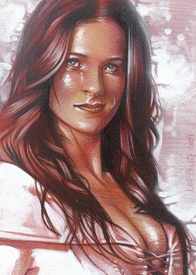 Bridget Regan as Kahlan ACEO Sketch Card by Jeff Lafferty
