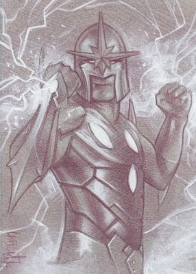 Nova (Pencil study) ACEO Sketch Card by Jeff Lafferty