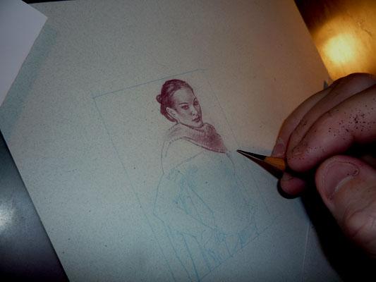 Natalie Portman Padme, original art by Jeff Lafferty