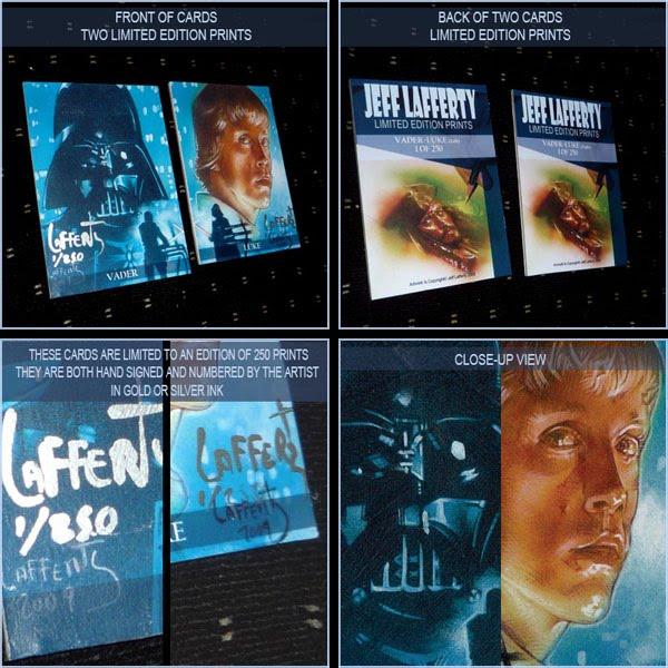 Darth Vader - Luke Skywalker, Limited Edition Signed Print by Jeff Lafferty