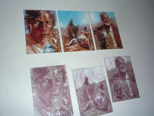 Star Wars, original Sketch Cards by Jeff Lafferty