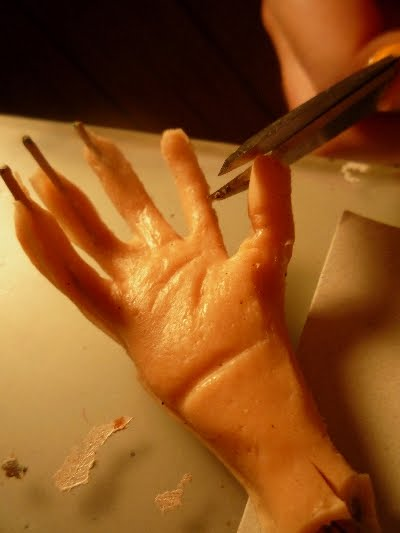 Silicone Puppet hands by Jeff Lafferty
