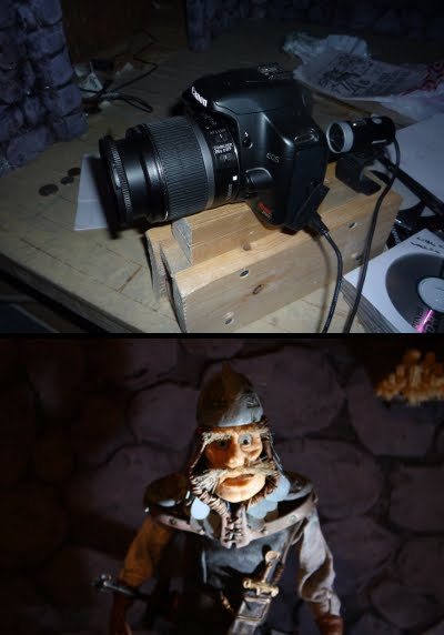 Canon Rebel XSI Camera and Stopmotion Puppet