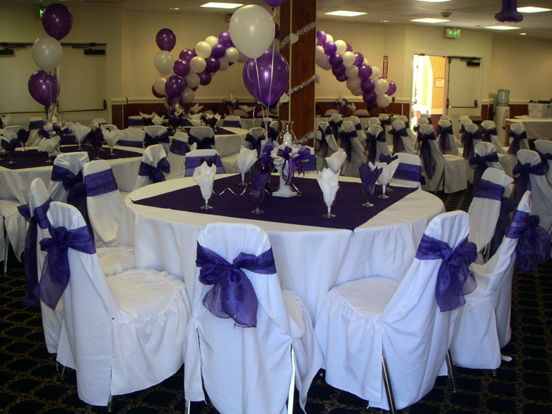 Purple and white wedding theme reference for wedding - White and purple decorations ...