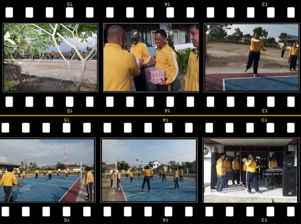Pemukulan Pertama BollaVolly oleh Kaban dan Pembagian Hadiah Pemenang Tenis Meja