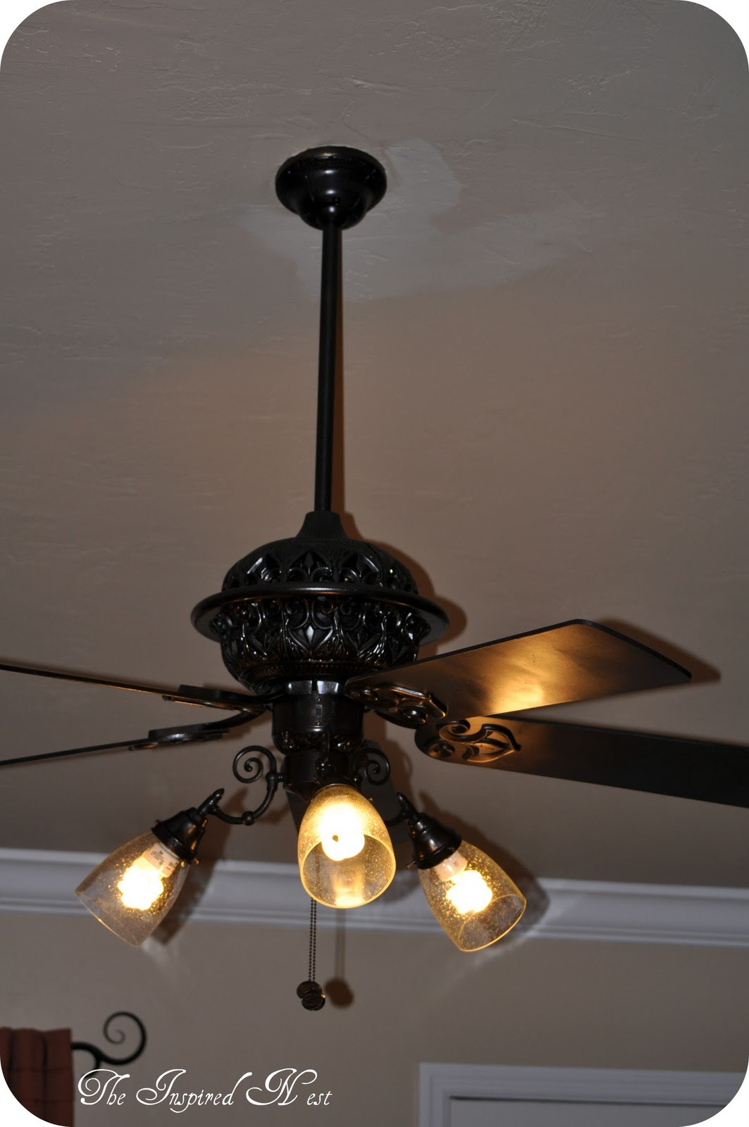 Finding My Aloha  A Ceiling Fan Makeover By The Inspired