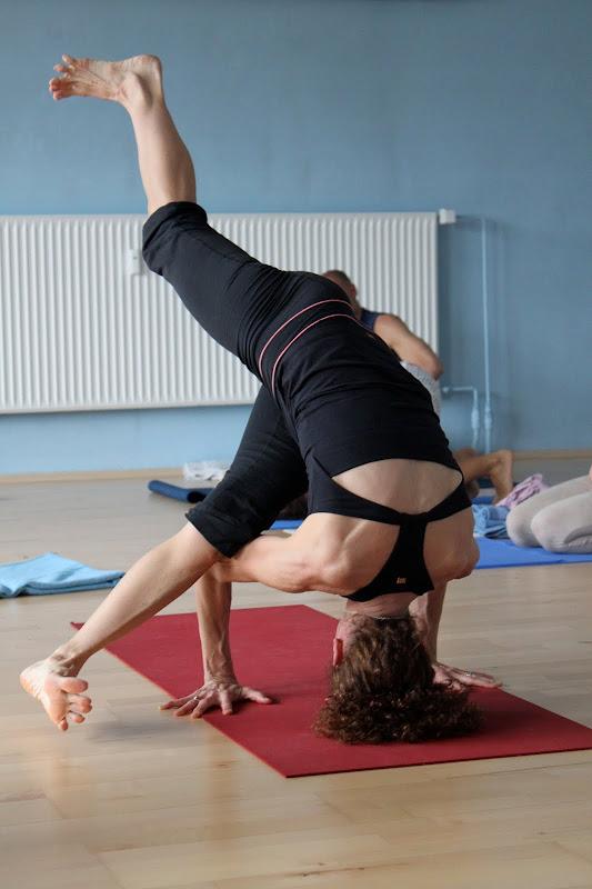 Tittibhasana Asana Headstand beim Yogaworkshop mit Desiree Rumbaugh Eye of the tiger in Berlin