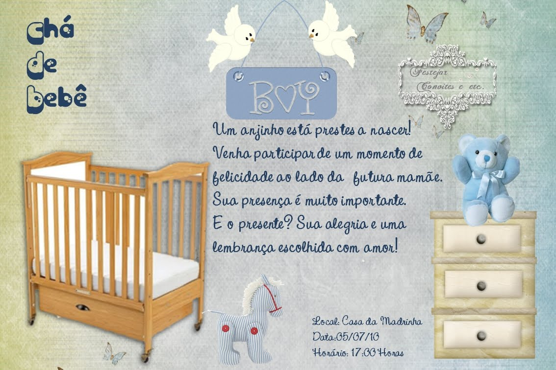 Sobre O Ch   De Beb    Veja Uma Dica Bem Legal
