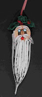 quilling santa ornament