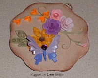 Quilled Butterfly magnet