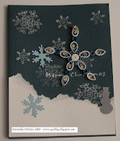 quilled snowflake ornament card