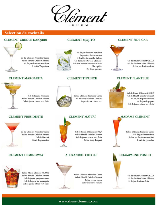list of mixed drinks