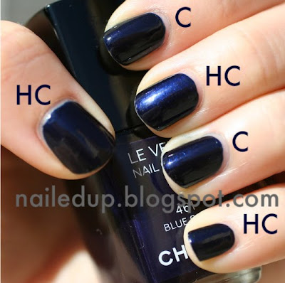Nailed.: Chanel Blue Satin and Hard Candy Walmart Mr. Right