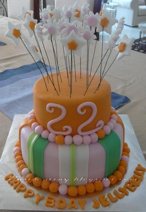 Taste On Tray Vibrant Birthday Cake