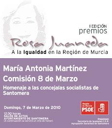 Santomera acoge la 1ª edición de los premios regionales Rosa Juaneda