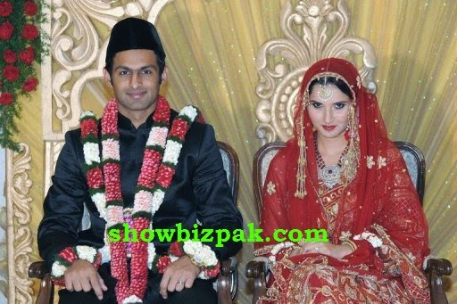 Shoaib Malik and Sania Mirza Wedding Pics