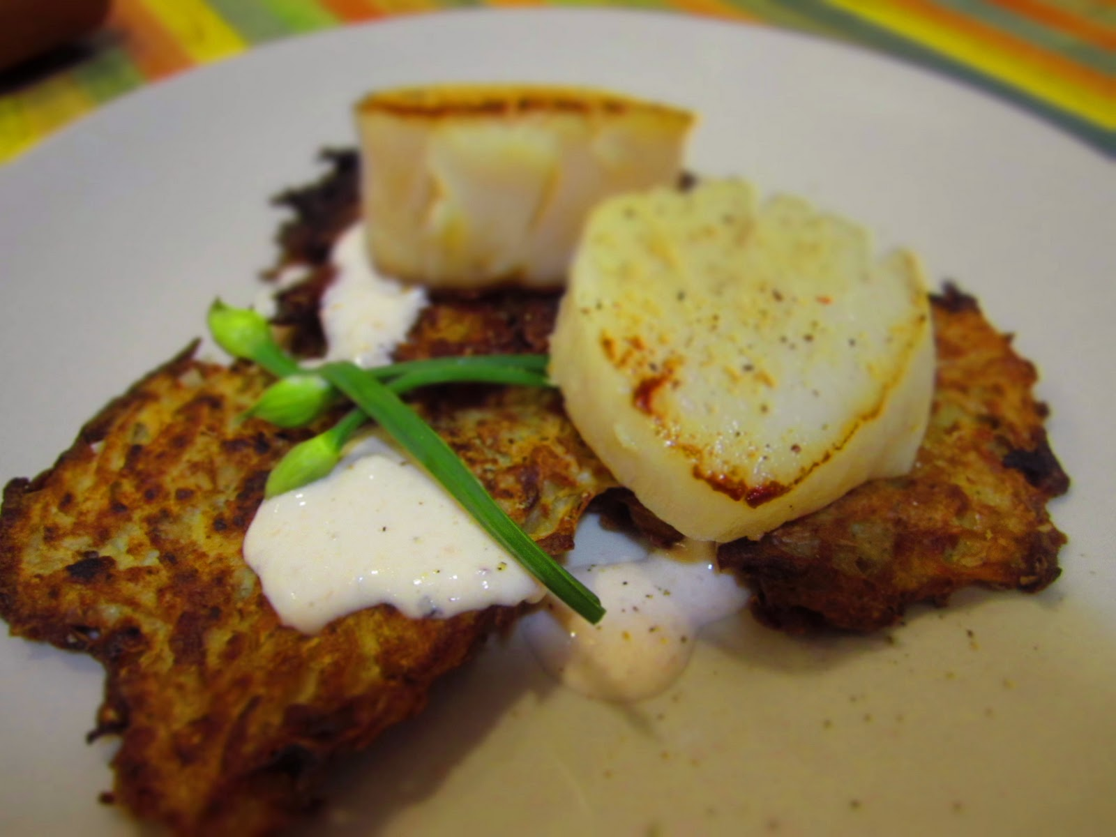 exhibit c: crispy yukon gold potato latkes with smoked rainbow trout ...
