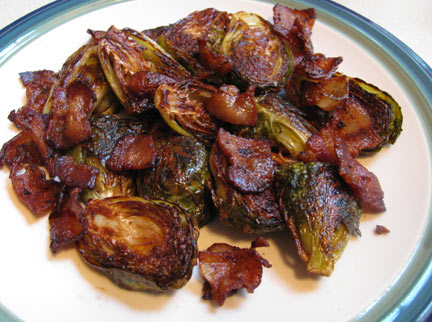 Real Food Fast!: Roasted Brussels sprouts with bacon